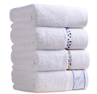 Custom Made White Luxury Cotton Hotel Bath Towel