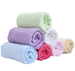 Custom Made 30x30CM Multi Color Square Soft Bamboo Face Towel