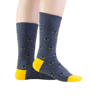Customized Bees Fashion Mens Ankle Dress Socks