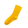 Custom Double Cylinder Ribbed Women Pure Color Cotton Socks