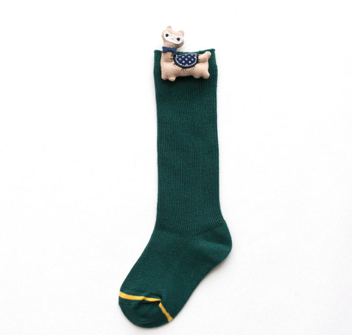 Custom Hand Knitted Cotton Baby Knee High 3D Socks