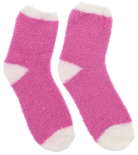 Custom Winter Warm Women Coral Fleece Cozy Fuzzy Bed Slipper Socks