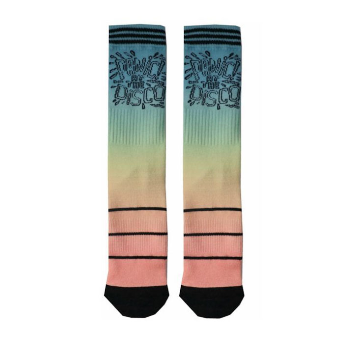 Custom Men Polyester 360 Degree Digital Print Socks