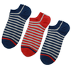 Customized Stripe Low Cut Cotton Men Ankle Socks