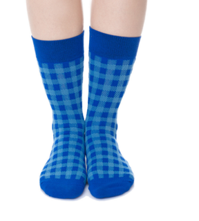 Custom Checked Cotton Women Happy Socks