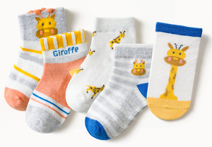 Custom Giraffe Cotton Baby Boy Ankle Socks