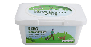 Disposable Organic Antibacterial Pet Grooming Cleaning Wet Wipes