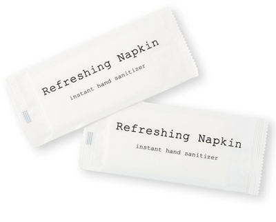 Disinfectant Sanitizing Refresh Napkin Hand Wet Wipes For Hotel Restaurant