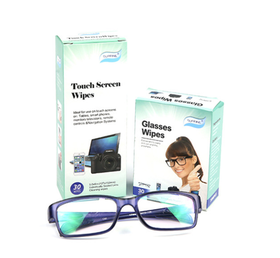 Nonwoven Disposable Pre-Moistened Anti Fog Towelettes Optical Lens Wipes